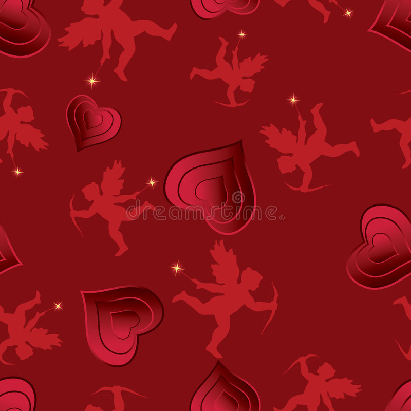 Download Love seamless pattern. stock vector. Illustration of cupid - 7681773