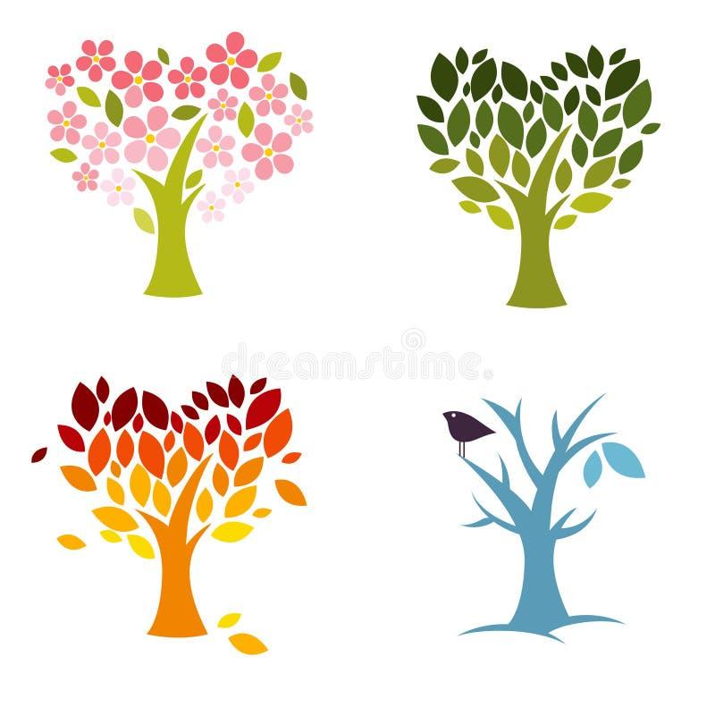 Love seasons vector illustration