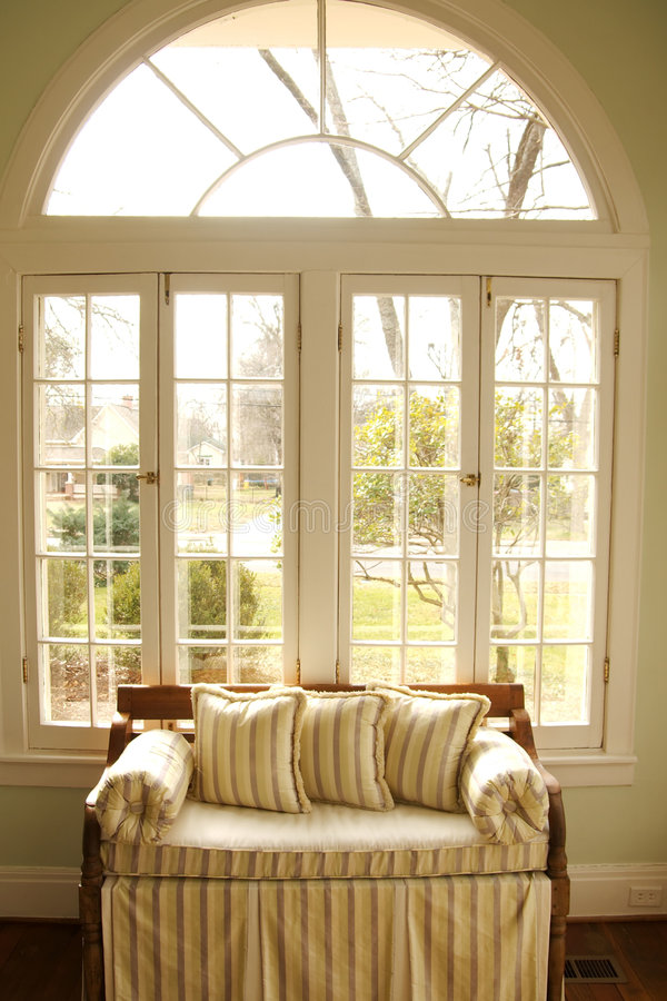 Download Love Seat In Window Royalty Free Stock Photo - Image: 4245935