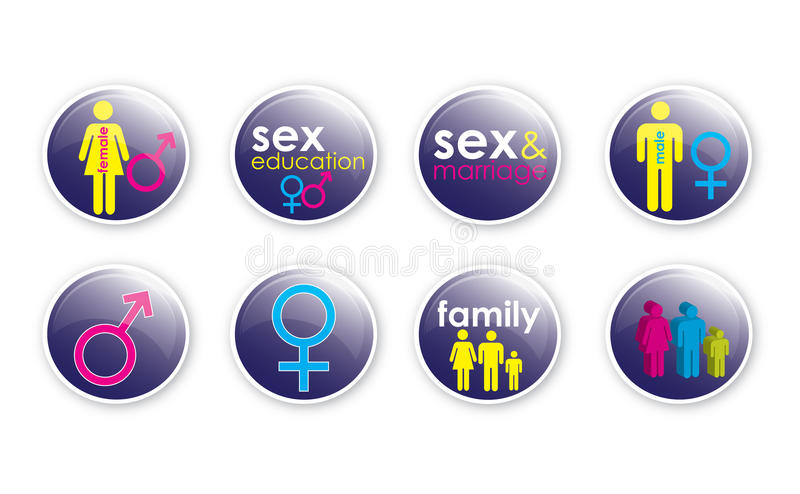 Download Love and Sex Buttons 3 stock illustration. Image of buttons - 23609023