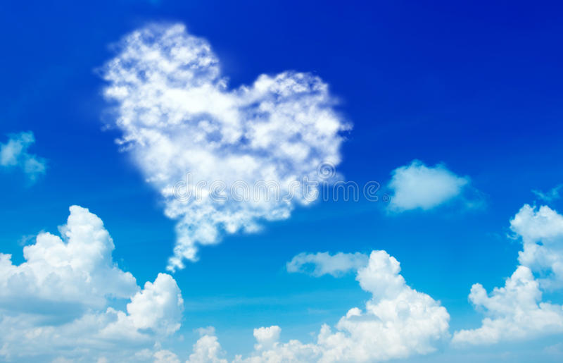 Love shape cloud royalty free stock photos
