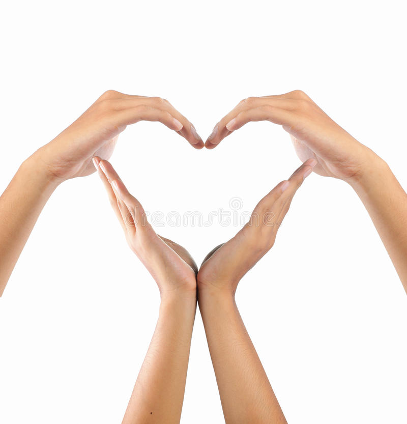 Download Love shape by hands stock image. Image of human, ideas - 16147123