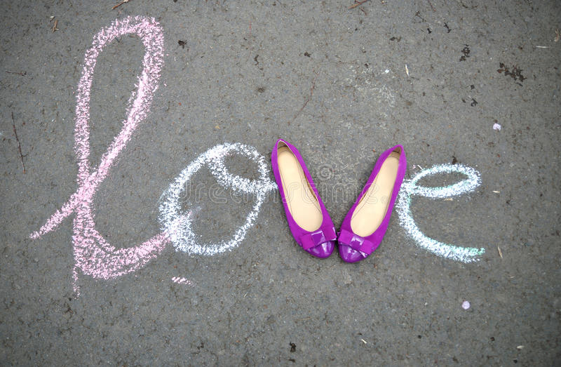 Love for shoes royalty free stock images