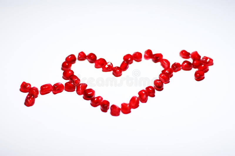 Love sign with arrow royalty free stock image
