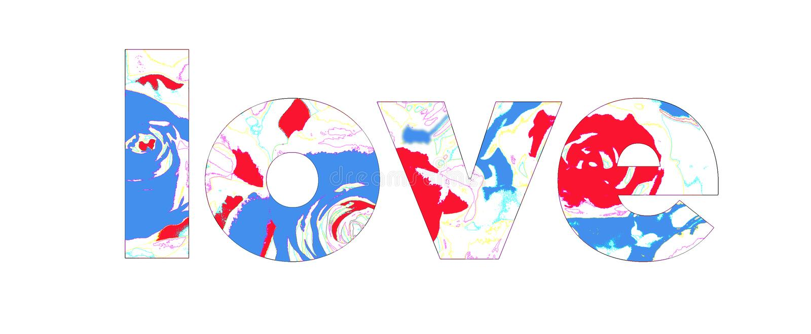 Love sign. In the color illustration stock illustration