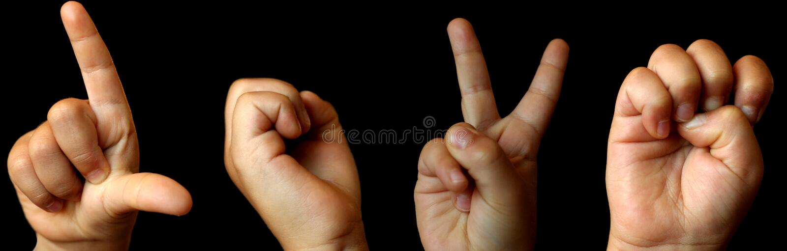 Love in Sign Language stock photography