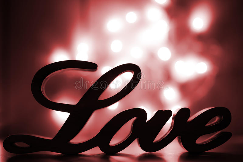 Download Love sign with red sparkle stock image. Image of english - 28438143