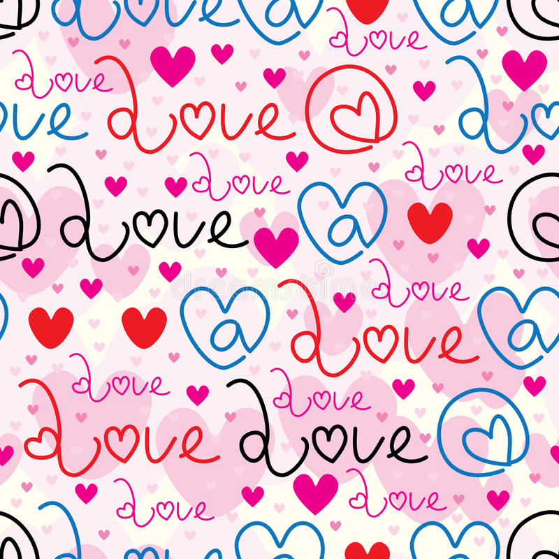 At love sign seamless pattern vector illustration
