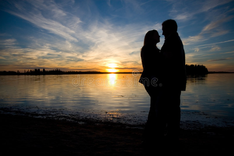 Love Silhouette royalty free stock images