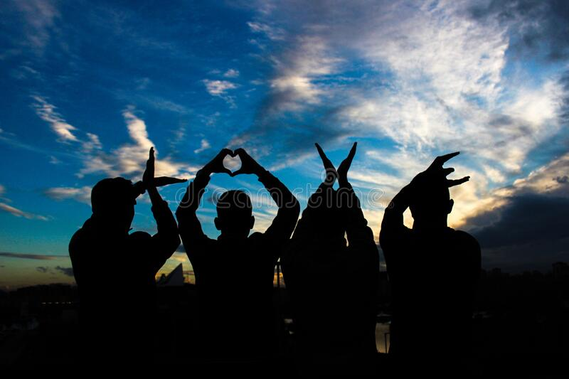 Love silhouette stock photos