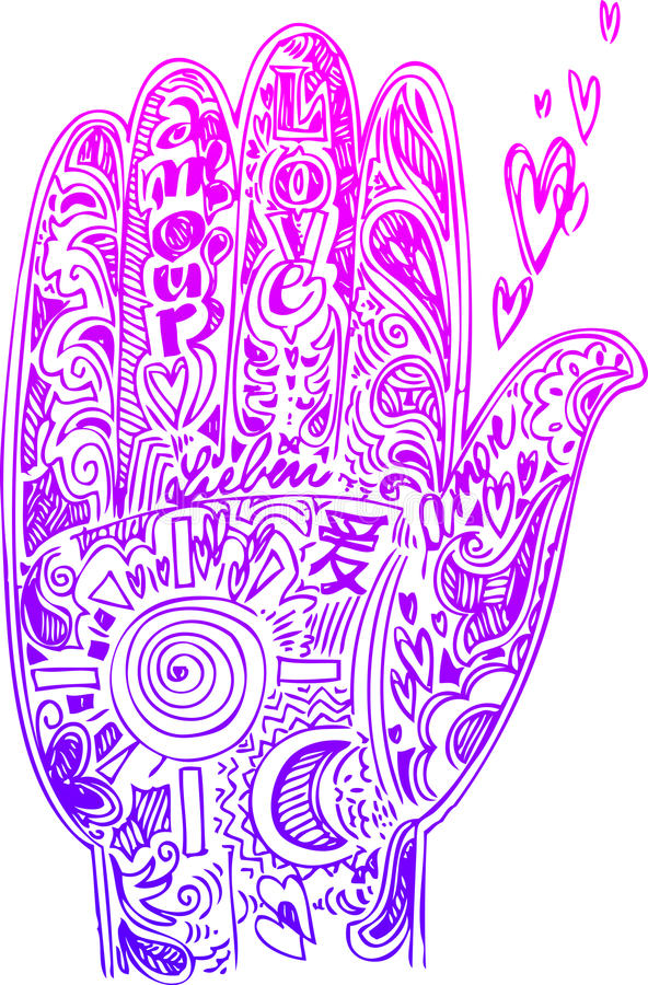 Hand sketched doodles vector royalty free stock images