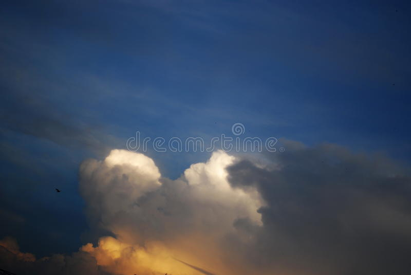 Love in the sky royalty free stock photography