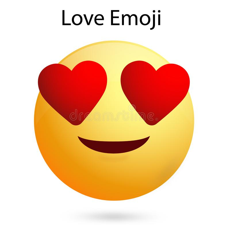In Love Smiley face with vector file. In Love Smiley face with vector Ai file. easily editable and have white background. high resolution vector illustration