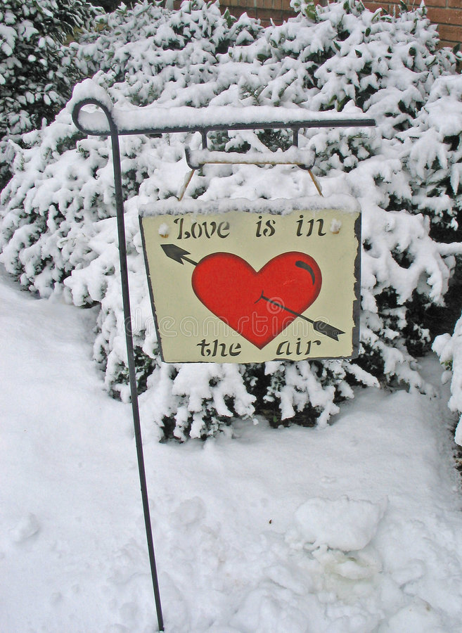 Download Love in the Snow stock image. Image of heart, valentines - 59713