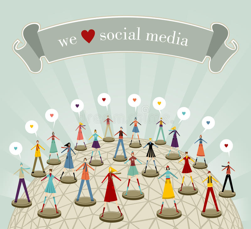 Download We Love Social Media Network Stock Vector - Image: 21789948