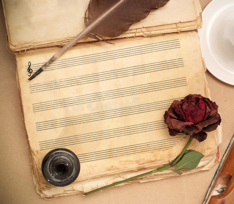 Download Love song stock photo. Image of page, melody, candle - 12190656