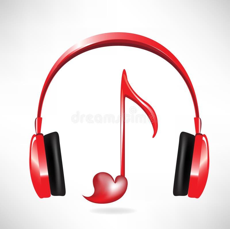 Love sound headphones stock illustration