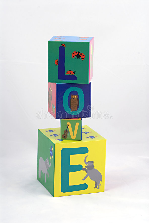 Download Love spelled with blocks stock image. Image of love, childs - 6390875