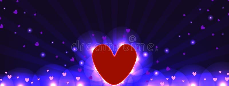 Love spread banner royalty free illustration