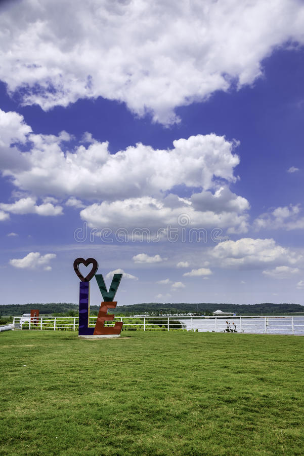 Love square and sky stock photos