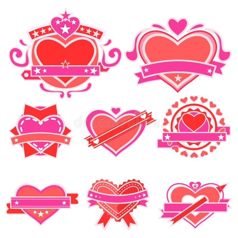 Love Sticker vector illustration
