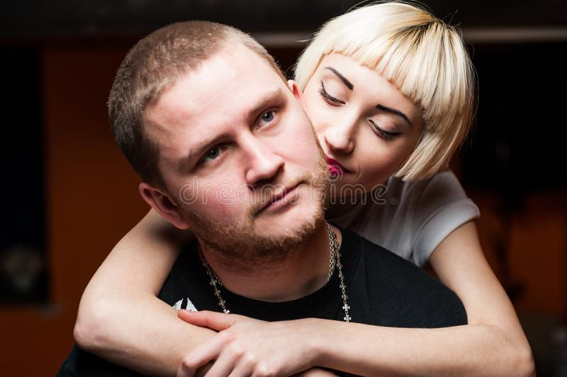 Love story set. Couple young people having fun royalty free stock photos