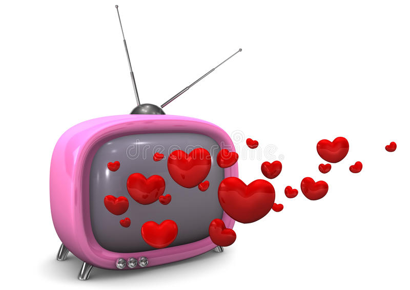 Love Story TV stock illustration
