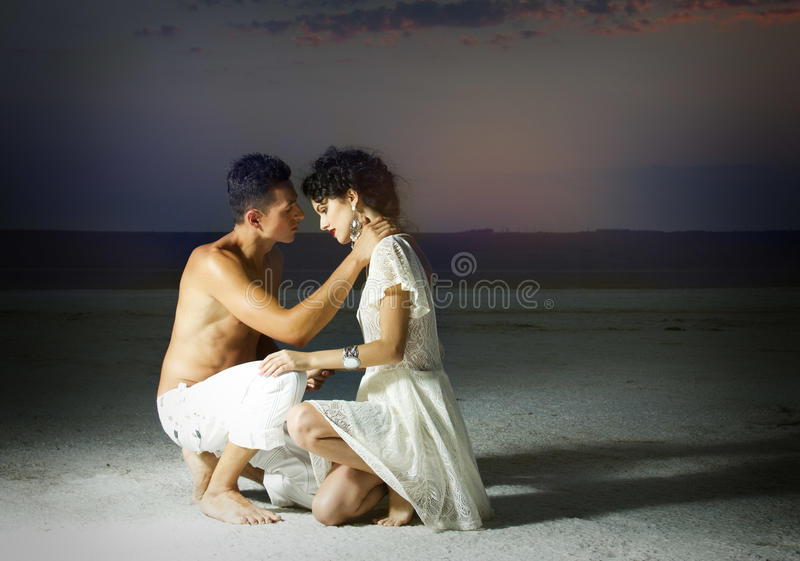 Love story of young beautiful couple. Love story of young beautiful couple, who walking together on the nature stock photos