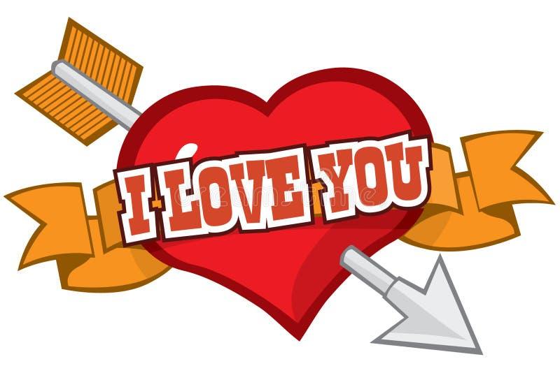 Love Struck stock illustration