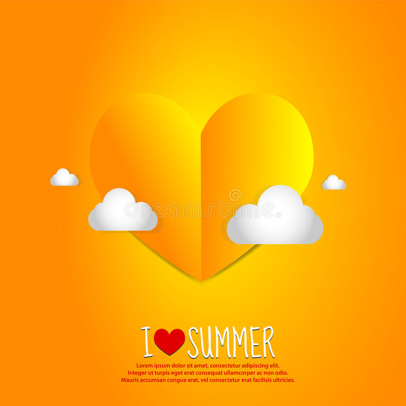 Download Love Summer Paper Heart stock illustration. Image of abstract - 24884641