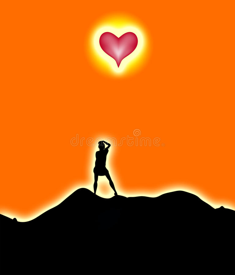 Download Love Sun stock illustration. Image of adult, love, female - 12927543