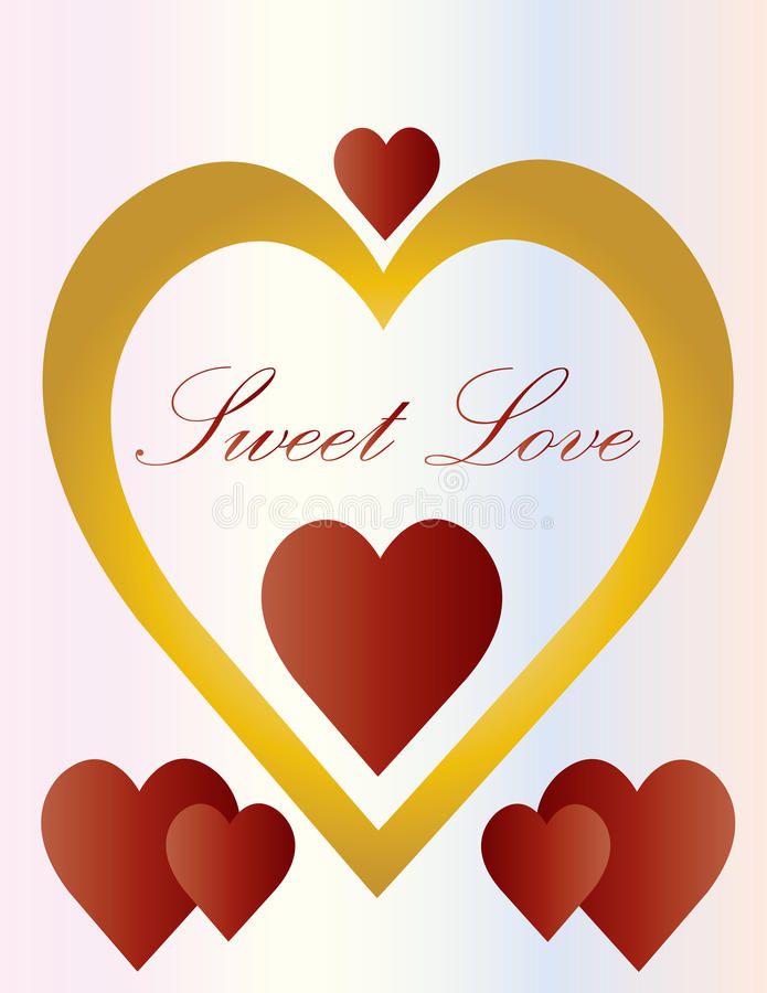 Love Sweet Hearts royalty free illustration