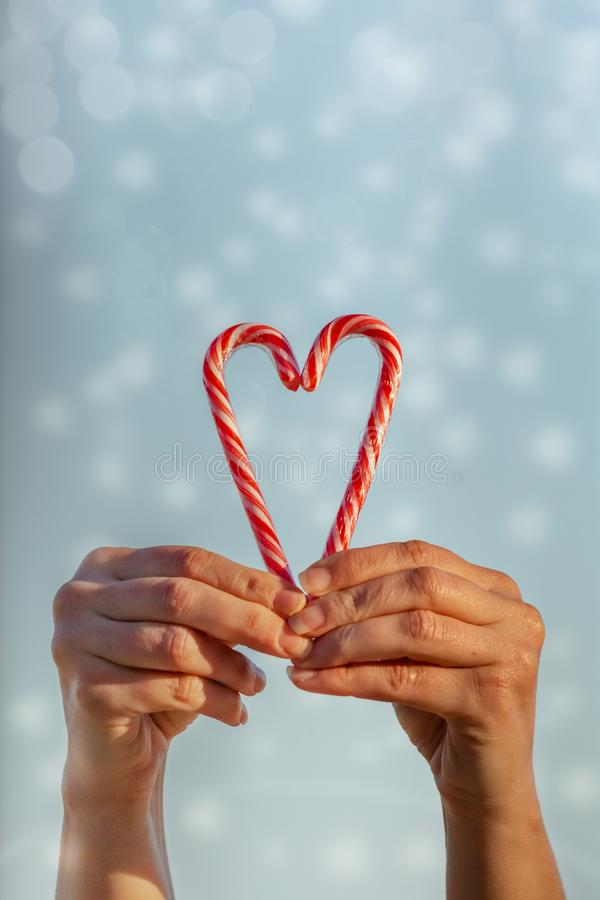 Love sweet blessings at Christmas royalty free stock images