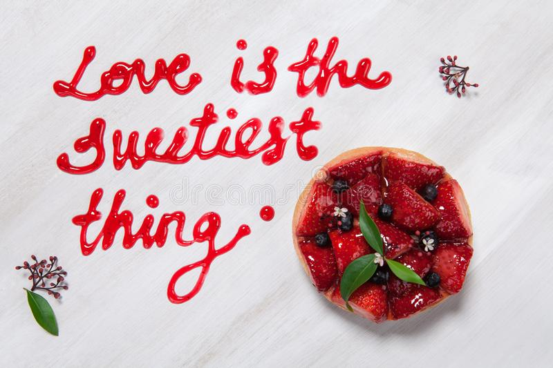 Love is the swetest thing. Love is the switiest thing for Valentines day stock images
