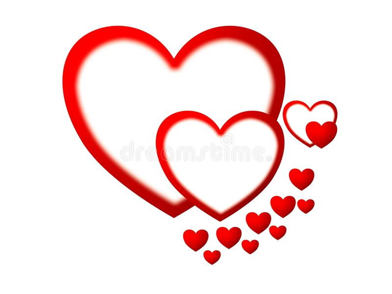 Love Symbol With Gradient Color Blur Effect Stock Photo Image Of