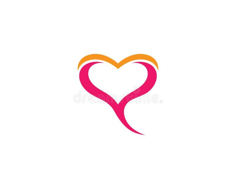 Love symbol illustration design. Love logo template symbol icon illustration design, help, hand, human, vector, health, abstract, background, valentine, isolated stock illustration
