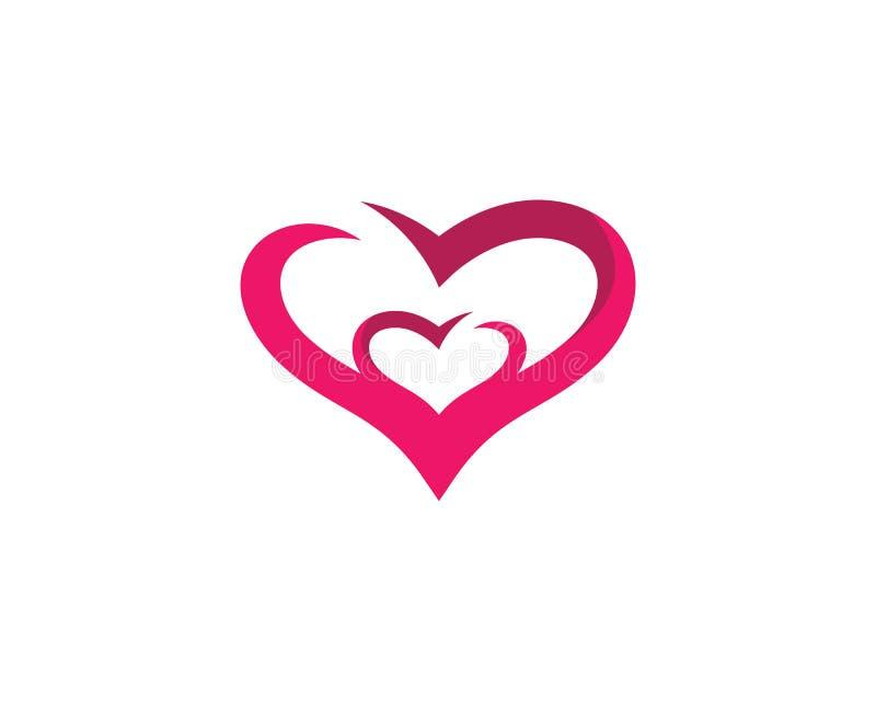 Love symbol illustration design. Love logo template symbol icon illustration design, help, hand, human, vector, health, abstract, background, valentine, isolated royalty free illustration