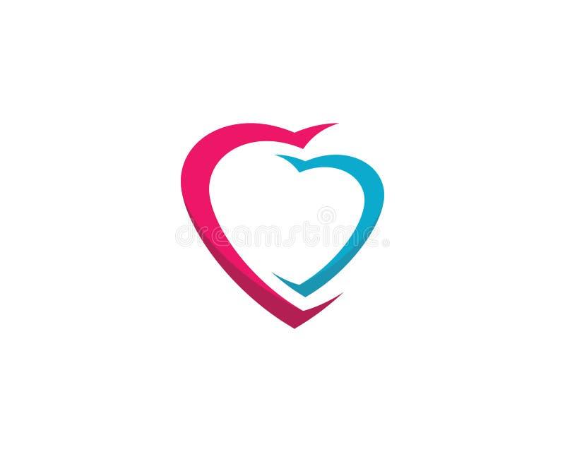 Love symbol illustration design. Love logo template symbol icon illustration design, holiday, celebration, romance, romantic, angel, wing, help, human, vector royalty free illustration