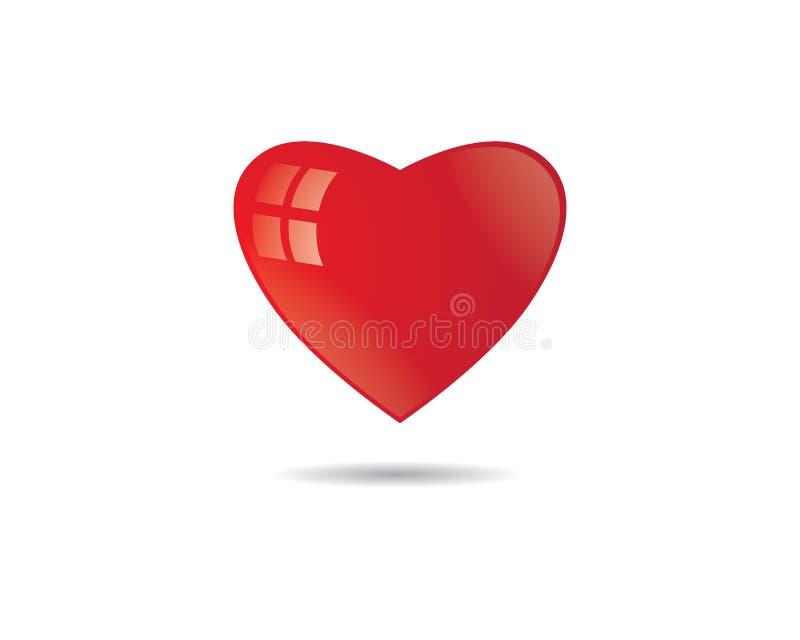 Love symbol illustration. Love logo template symbol icon illustration design stock illustration
