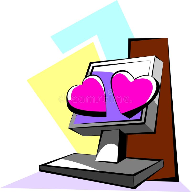 Download Love symbols, stock vector. Image of clip, happy, background - 21780871