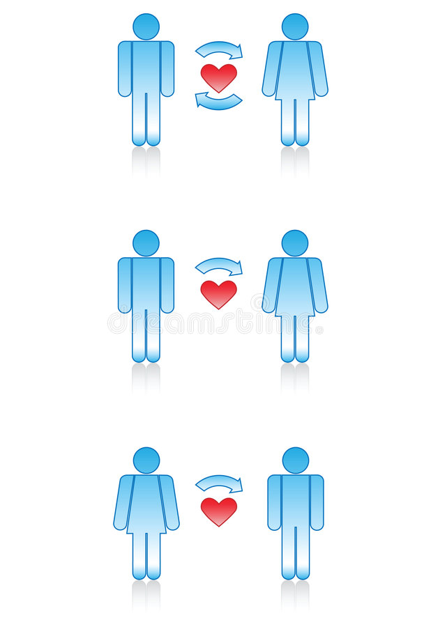 Love Symbols Men And Women Stock Vector Illustration Of Flirting