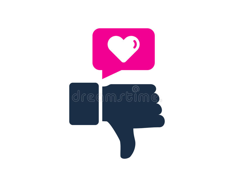 Love Testimonial Icon Logo Design Element. This design can be used as a logo, icon or as a complement to a design stock illustration
