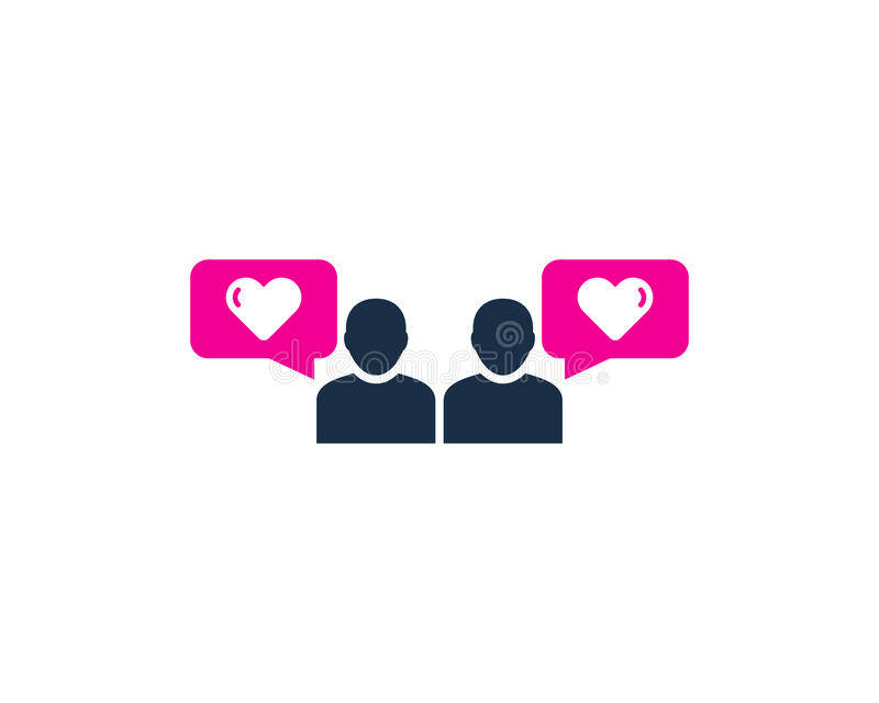 Love Testimonial Icon Logo Design Element. This design can be used as a logo, icon or as a complement to a design royalty free illustration