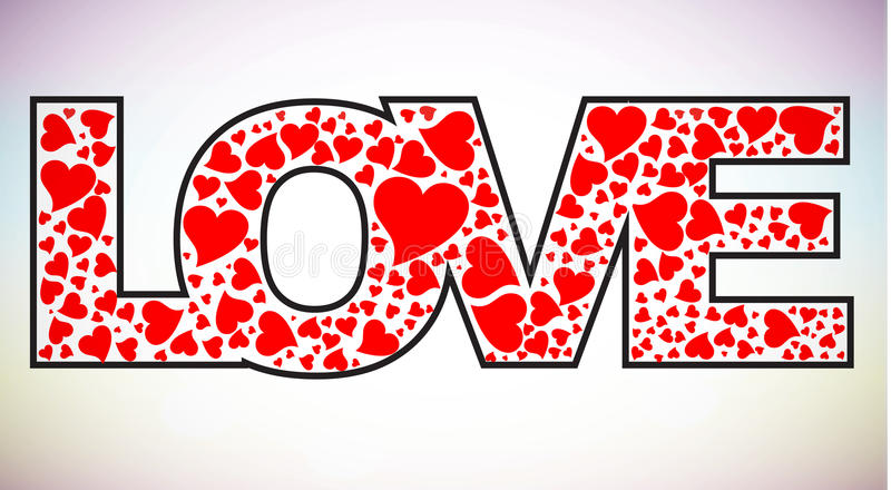 Love text royalty free illustration