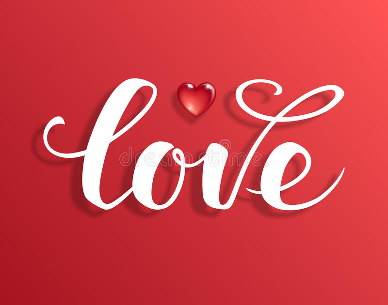 Love text. Calligraphic Lettering. royalty free illustration