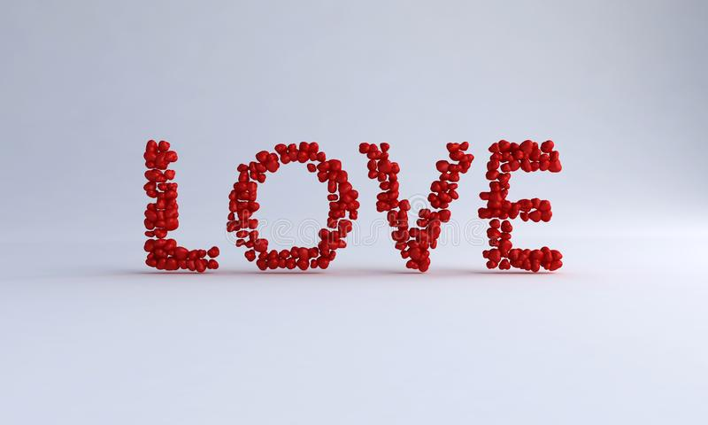 Love Text With Heart royalty free illustration