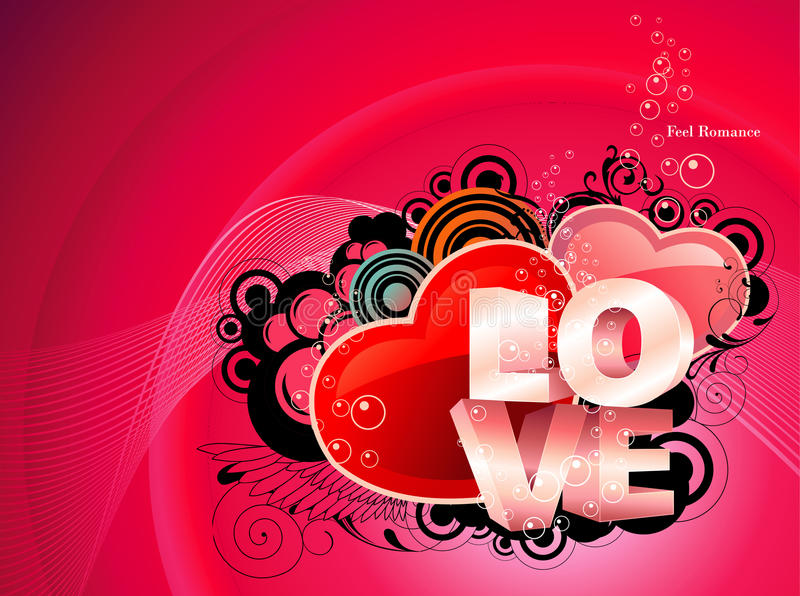 Love text illustration stock illustration
