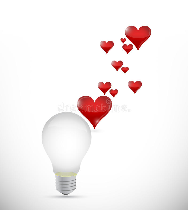 Free Love The Idea Bulb Concept Illustration Royalty Free Stock Photography - 33374337