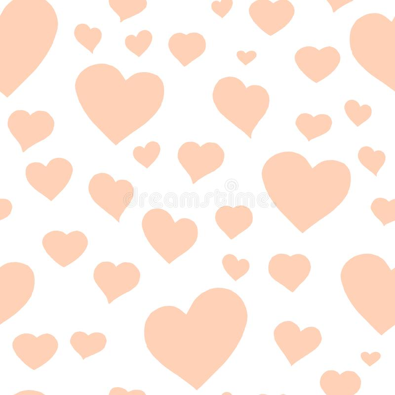 Love themes seamless texture. Red seamless pattern with red hearts isolated on white. vector illustration