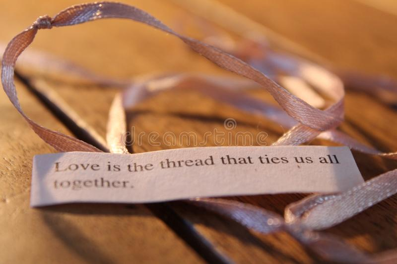 Love is the thread stock images